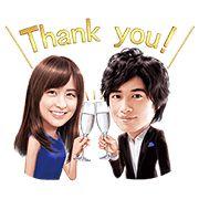 Sticker Mizuki Yamamoto & Takumi Saito × MIO 100 coins - http://www.line-stickers.com/mizuki-yamamoto-takumi-saito-x-mio/
