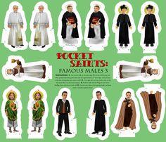 Cut and Sew Saints Dolls famous male saints 3 fabric by littleliteraryclassics on Spoonflower - custom fabric