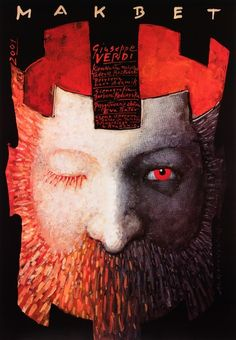 Macbeth by Giuseppe Verdi - Polish Opera Poster by Mieczyslaw Gorowski Macbeth Poster, Cover Design, Ballet Posters, Play Poster, Polish Posters, Ex Libris, Illustrations And Posters, Concert Posters, Shakespeare