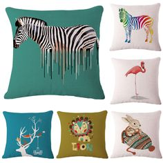 pas cher 45 x 45 cm dcoratif oreillers de jet case animaux zebra flamants lion lapin - Coussin Color Pas Cher