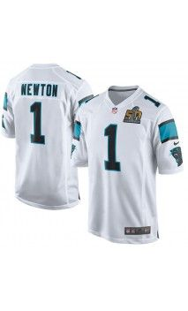 NFL Men s Carolina Panthers Cam Newton White Super Bowl 50 Bound Game Event  Jersey 8f5064048