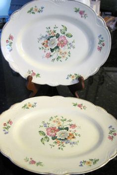 Vintage Homer Laughlin Platters Set of two by vintageexchange, $21.00