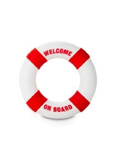 SHOTS TOYS Buoy Penisring Welcome On Board rot 1er Pack