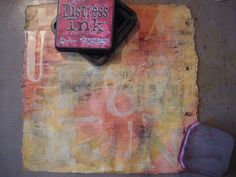 Dyan's Blog: Step-by-step journal page using Tim Holtz products. 2.28.09