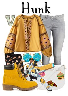"""Hunk Garrett (Voltron: Legendary Defender)"" by fabfandoms ❤ liked on Polyvore featuring H&M, Kate Spade, Forever 21, HOT SOX and Promise Shoes"