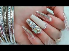 Uñas acrílicas hindú lujosas. y con ese efecto de arena!! - YouTube