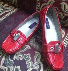 Red flats-- comfy like Reeboks...  yokishoes.com