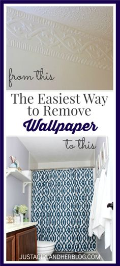 Definitely using this simple method the next time I need to remove wallpaper! | JustAGirlAndHerBlog.com