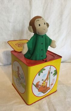 Vintage Curious George Jack In The Box Child's Collectible Toy  | eBay