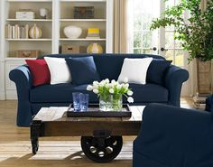 Delicieux Sure Fit Slipcovers Twill Supreme Separate Seat Slipcovers   Petite Sofas