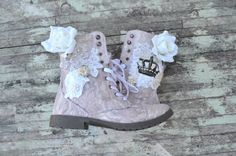Women's Combat boots Lace Embellished boots от TrueRebelClothing, $74.00
