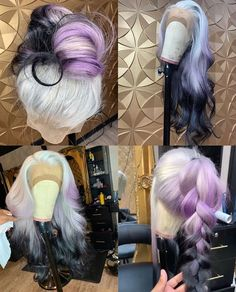 Try On Hairstyles, Goddess Hairstyles, Creative Hairstyles, Black Girls Hairstyles, Creative Hair Color, Cool Hair Color, Love Hair, Gorgeous Hair, Colorful Lace Front Wigs