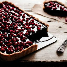 Chocolate Pomegranate Tart by Pastry Affair
