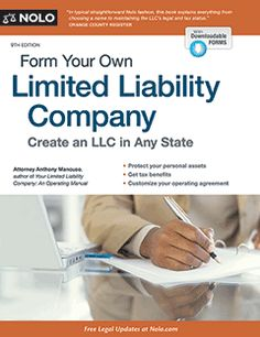 iTips: ••LLC formation - NJ Guide by Nolo•• Form Your Own Limited Liability Company