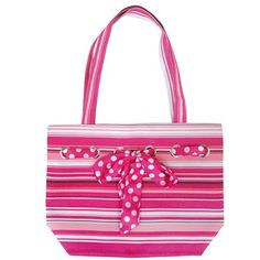 """Zippered tote bag made of nylon      Inside zippered pocket      Water resistant lining      12""""H X 18""""W X 5""""D"""