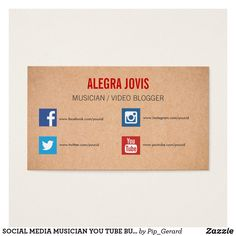 Socially sound business card business cards and business social media musician you tube business card colourmoves