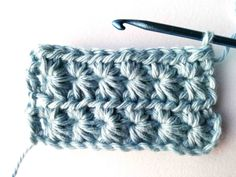 In this tutorial it is shown how to make a star stitch. Crochet Cable, Easy Crochet, Free Crochet, Crotchet Patterns, Crochet Blanket Patterns, Crochet Blankets, Baby Blankets, Front Post Double Crochet, Half Double Crochet
