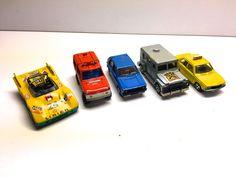 Vintage Set of 5 Die Cast Cars, Majorette And Norey Cars - Made In France, Car, Jeep, Van, Truck, Racer by vintagetoolbox on Etsy