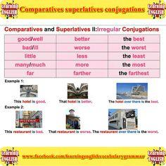 Comparatives superlatives conjugations
