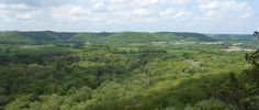 Wildcat Mountain State Park - Vernon County, Wisconsin - Vista from the top of the park.