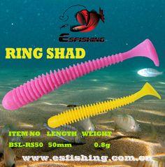 """Fishing lures Soft Lures 12pcs 5cm/0.8g Esfishing RING SHAD 2"""""""