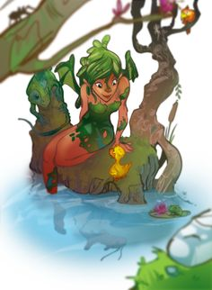 Swamp-Fairy by Tyler Lederer, via Behance