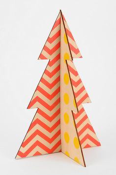 Wooden Tree - Urban Outfitters - orange & yellow
