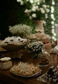 Kit para mesa casamento retro.  Decoração Sandra Dias . Interiores / Casamento Temático