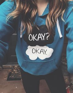 Favorite sweatshirt ever. The Fault in Our Stars!! Best book EVER!!! okay? okay. sweatshirt #tfios
