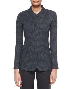 07f4067d2f097 St. John Collection Tweed Knit Color-Fleck Jacket