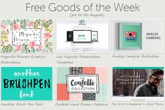 Download this Weeks #Freebies on Creative Market It includes free #webdesign resources bootstrap template, fonts, graphics elements, patterns and presentation template.