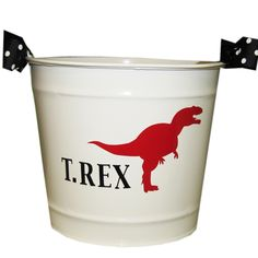 T Rex personalized bucket