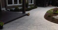 New Paved walkway and patio by Beaver Landscape in Ladner, BC