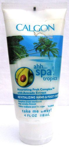 Calgon ahh...spa! Tropics Revitalizing Hand and Foot Cream (4 fl. oz.) -- Awesome product. Click the image : Skin Care - Feet, Hands, Nails