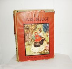 Antique French Book LE LIVRE ROUGE for Children by VintageEmbellishment2, $40.00 USD #zibbet