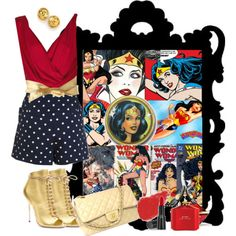 wonder woman. not a fan of gold but for wonder woman i would wear it
