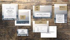 KRAFT Wedding Invitation Set Save the date RSVP by INVITALIA