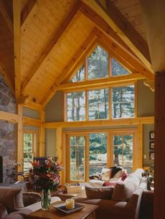 Timber frame Great Room in Vermont