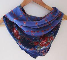 Vintage Laura Ashley silk scarf romantic by foulardfantastique, $22.00