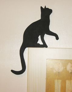 cat looking up silhouette - Google Search
