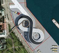 paolo venturella imagines guggenheim helsinki as infinite photovoltaic path - designboom | architecture
