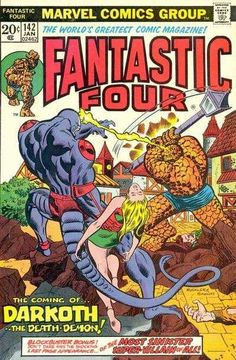 Fantastic Four #142 - The Coming of Darkoth--the Death Demon!