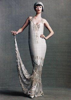 "lelaid: "" Audrey Marnay in Portrait of Paris for Vogue, April 1998 Shot by Steven Meisel Styled by Grace Coddington """
