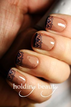 Lace French Tip Stamp