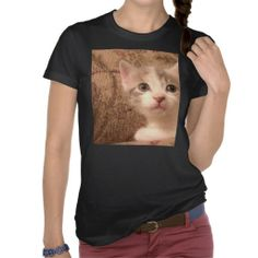 Vintage Pussycat Tshirts!  #Zazzle #Store #Kitten #Cat #Cute #Gift #Present #Holidays #Christmas  http://www.zazzle.com/conquestkitty*