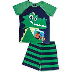 Deixe a hora do sono ainda mais aconchegante.O pijama jacaré, além divertido e lindo, deixa a hora do sono ainda mais aconchegante.  Conteúdo: 1 pijama jacaré.  Benefícios: Pijama com estampa exclusiva para os meninos.