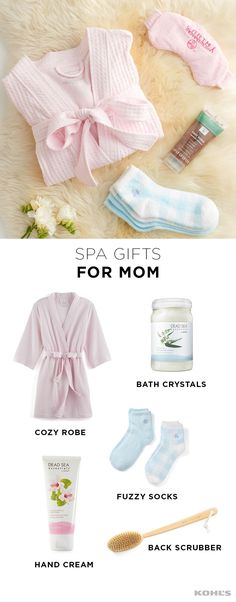 Momming can be tough, so give the gift of a soothing home spa experience. We recommend a cozy robe, an eye mask, bath crystals, fuzzy socks, a hydrating hand cream and a back scrubber. Wrap it all up with one of your favorite (relaxing) books and expect a more zen-like mom the next time you see her. Celebrate Mother's Day with Kohl's.