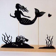 Mermaid Seascape Shadow Puppet Set
