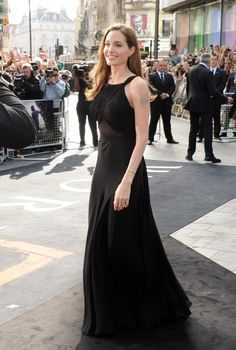 Angelina Jolie attends the World Premiere of World War Z at The Empire Cinema Leicester Square on June 2, 2013 in London, England.