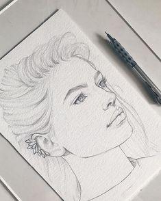 Pin de essa 🦋 en art en 2019 art sketches, drawings y pencil portrait. Amazing Drawings, Beautiful Drawings, Cool Drawings, Portrait Sketches, Pencil Portrait, Self Portrait Drawing, Drawing Portraits, Pencil Art Drawings, Art Drawings Sketches